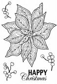Woodware - Doodle Poinsettia - Clear Magic Singles Stamp Set - JGS537